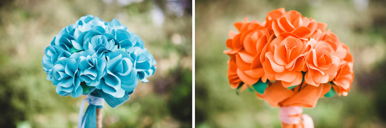 Paper flower bouquet Cornwall - Wedding planner Cornwall