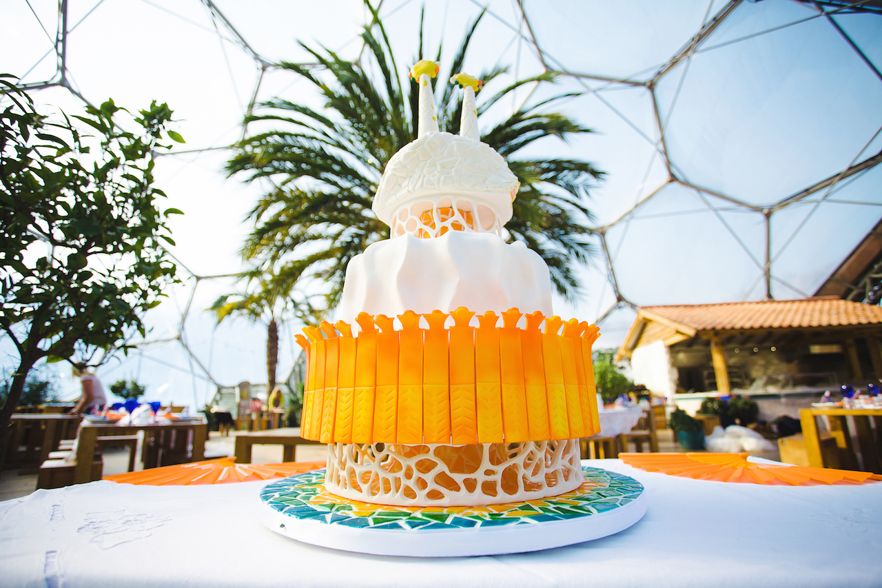 Wedding cake at Eden Project - Wedding planner Cornwall