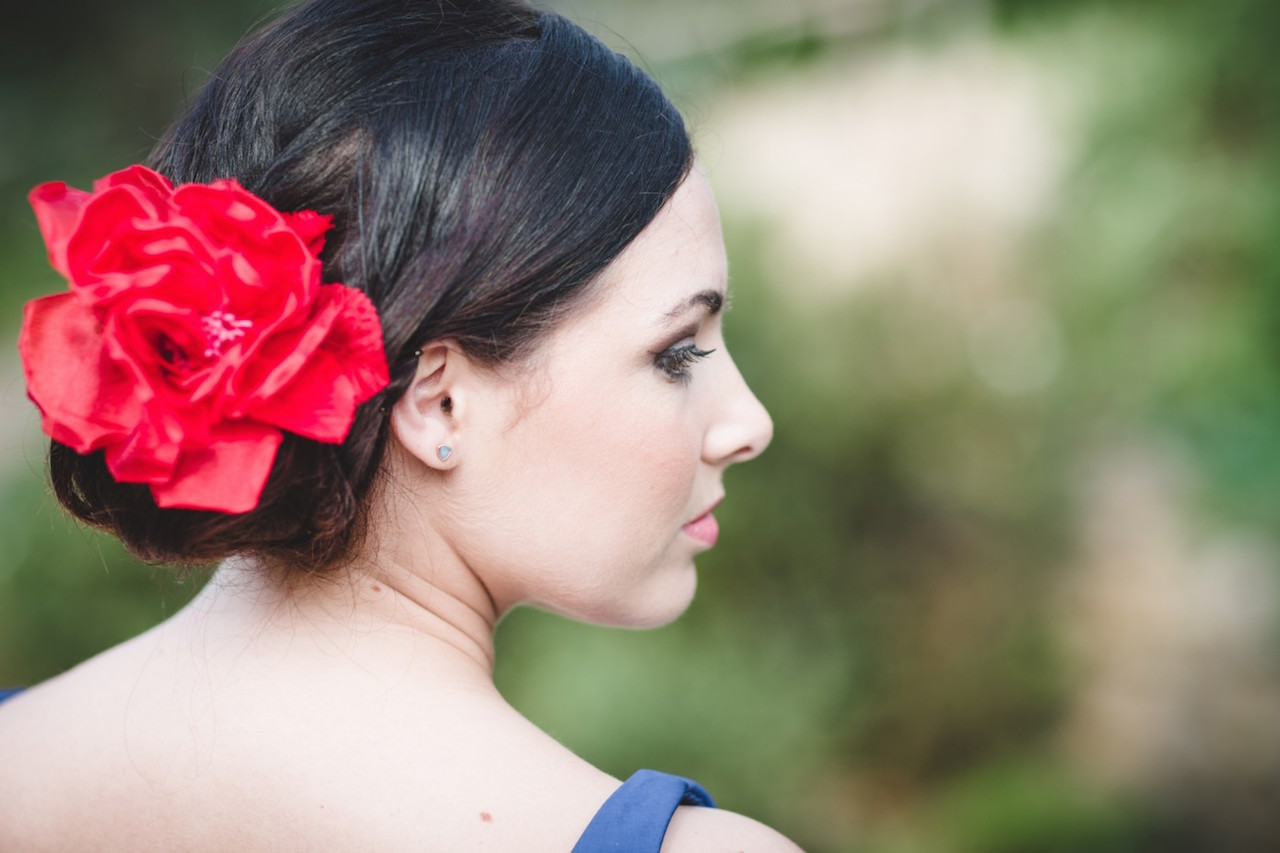 Spanish wedding hair Eden Project - Wedding planner Cornwall