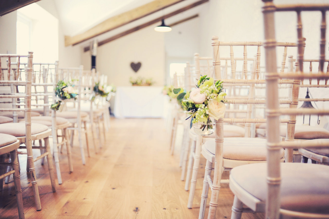 Ceremony at Cosawes Barton - Wedding planner Cornwall