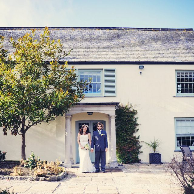 Bride and Groom Cosawes Barton in Cornwall, planned by Jenny Wren Wedding planner Cornwall