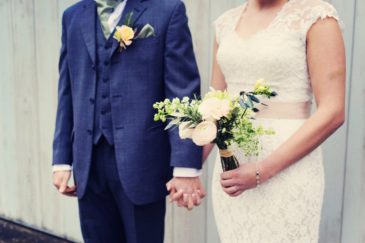 Couple at Cosawes Barton - Wedding planner Cornwall