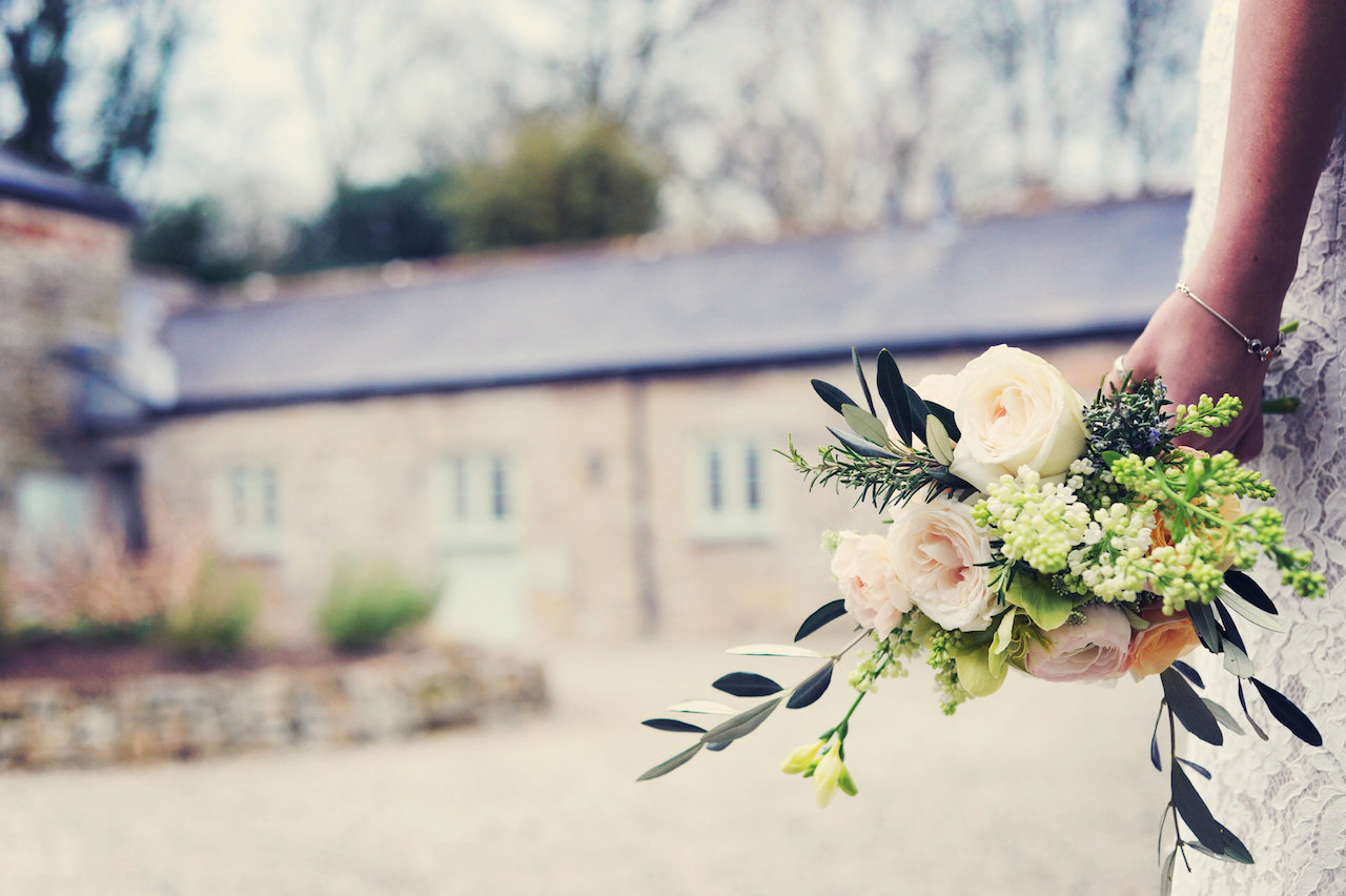 Bouquet at Cosawes Barton - Wedding planner Cornwall