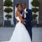 Funmi and Fola as bride and groom during their Cornwall Wedding. Their wedding was planned by Jenny Wren, Cornwall Wedding Planner