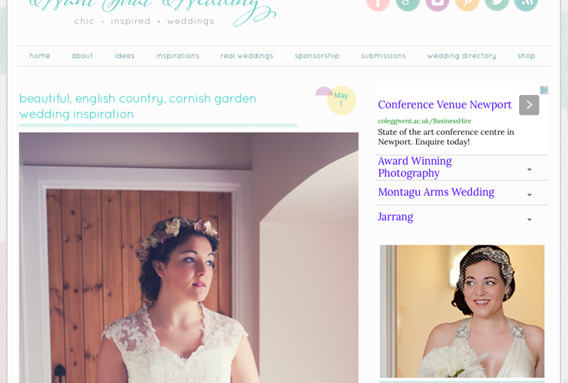 English Country Garden press feature all about Jenny Wren, Wedding Planner in Cornwall.