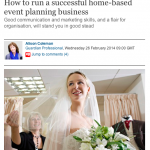 Feature from The Guardian by Jenny Wren, Wedding Planner in Cornwall