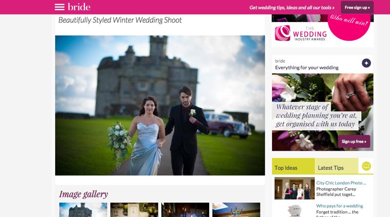 Feature from Winter Wedding Shoot by Jenny Wren, Wedding Planner in Cornwall