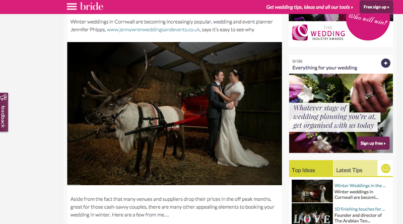 Feature from BRIDE magazine by Jenny Wren, Wedding Planner in Cornwall
