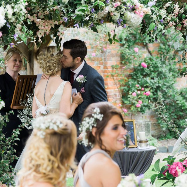 Bride and Groom at a wedding at the Kingstone Estate in Devon. Alice and Tarquin planned their wedding with Jenny Wren, Wedding Planner