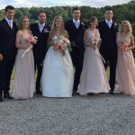 Bridesmaids and Groomsmen at a wedding planned by Jenny Wren, Cornwall Wedding Planner