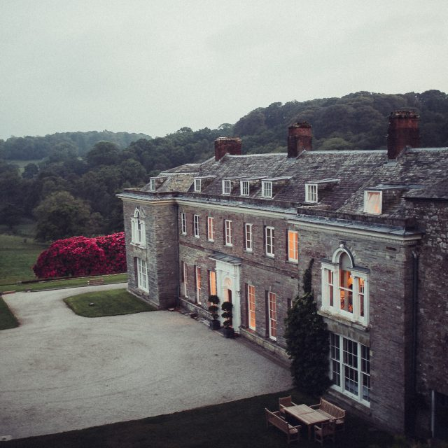 Zoomed out view of Boconnoc House in Cornwall. This picture was taken during a wedding planned by Jenny Wren, Wedding Planner in Cornwall.