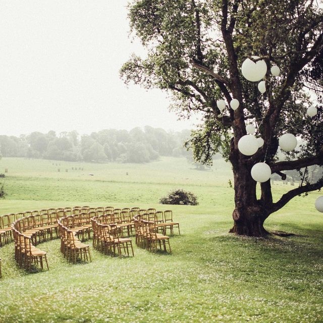 Photo of an outdoor wedding ceremony in Cornwall created by Jenny Wren