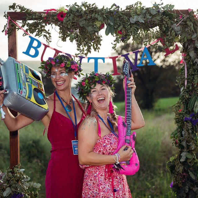 Guests having a good time at Lucy's Birthday Party in Cornwall - Planned by Event planner Jenny Wren