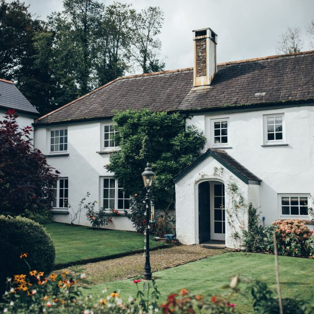 The venue at Emma and Martin's Wedding in Devon at a private home - Wedding Planner Jenny Wren