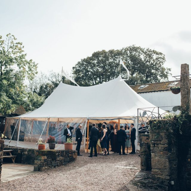 Venue of Emma and Martin's wedding in a private home in Devon