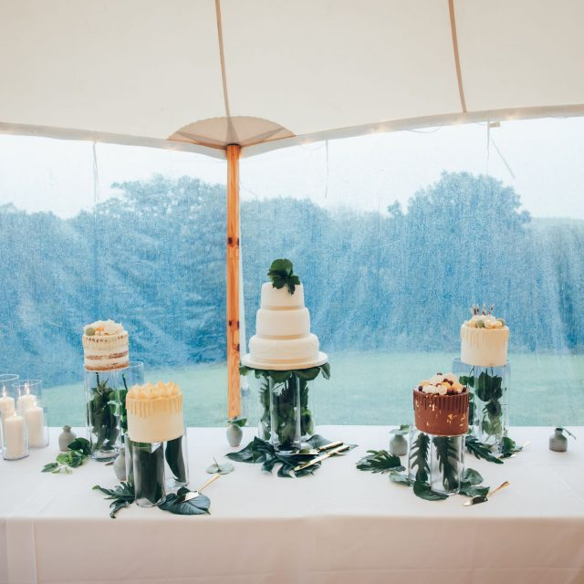 Photos from a wedding planned by Jenny Wren at a private home in Devon.
