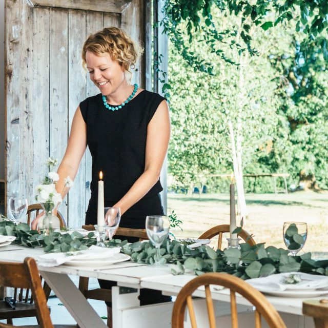 Styled wedding shoot with Jenny Wren Wedding Planner at Camel Studio, Cornwall