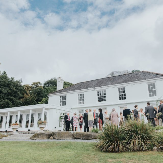 Outside shot of the venue at a wedding at Trebah Gardens in Cornwall