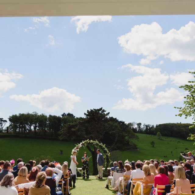 Sarah and Ollie getting married at Pamflete House in Devon