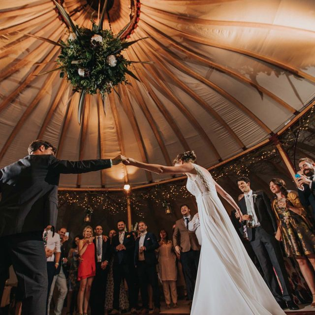 First Dance at a private home wedding in Cornwall