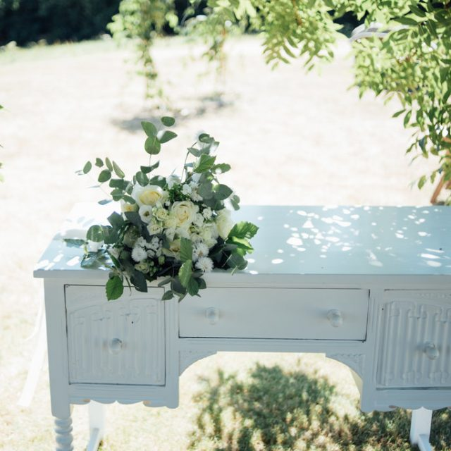 Flowers ready at a styled wedding shoot at Camel Studio in Cornwall