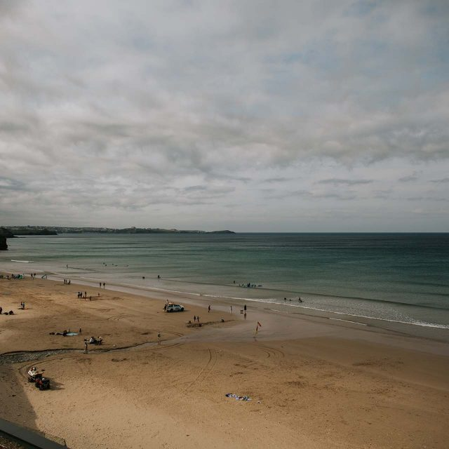 The gorgeous Watergate Bay outside the Watergate Bay Hotel in Cornwall. Wedding planned by Jenny Wren in Cornwall