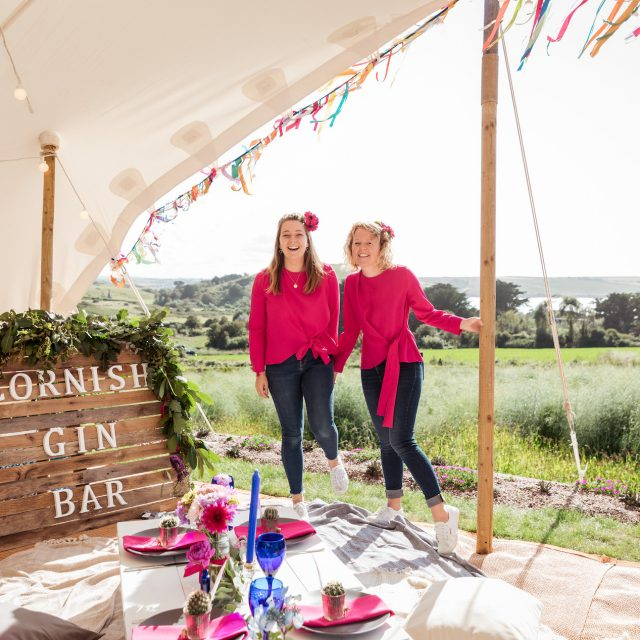 Jenny and Maisie together preparing for a party at a Private Home in Cornwall - Party Planner Jenny Wren