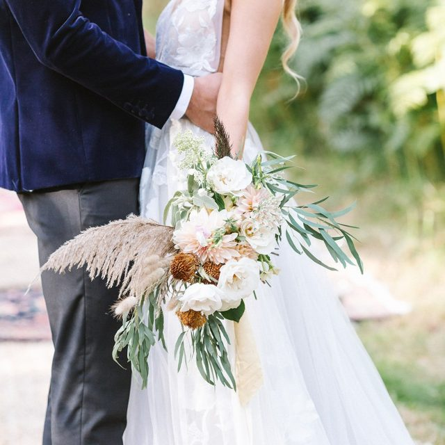 Bride and Groom from the wedding styled shoot at Boconnoc House in Cornwall