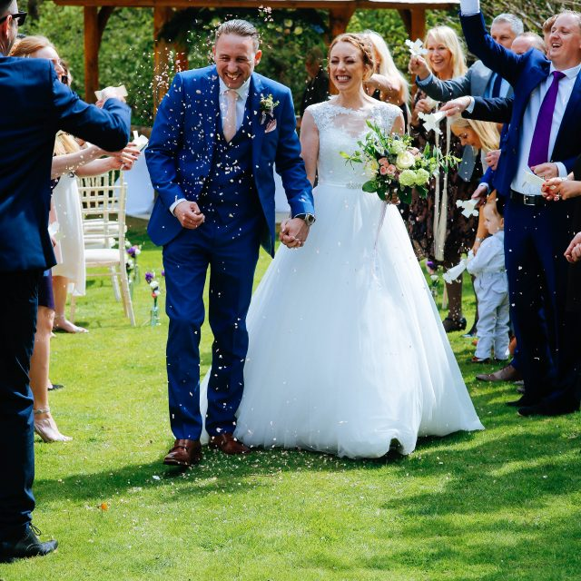 The Bride and Groom at Cosawes Barton in Cornwall